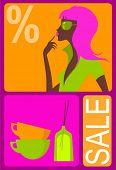 diseño del cartel / flyer para ir de compras venta