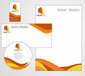 Design de modelo de papel timbrado - arquivo de vetor