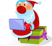 Santa Claus with laptop  - for additional works of this kind, CLICK ON MY NICKNAME BELOW TO VISIT MY GALLERY