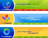 template of website banners / headers, easy to edit, vector file - 4