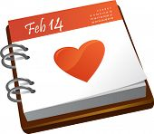 stock photo of san valentine  - calendar  - JPG