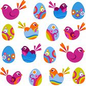 stock photo of happy easter  - Easter icons  - JPG