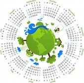 Calendário de círculo natural 2010 - vector