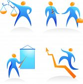 collection of icons with the business people - 5