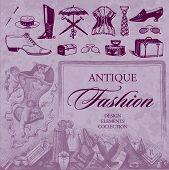 antique fashion set (vector)