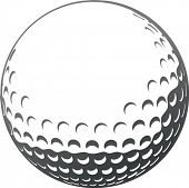 Primer plano el vector golf ball