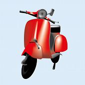 Red scooter illustration