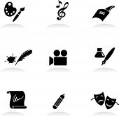 Classic arts icons set