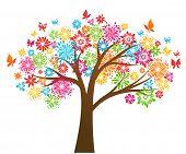 Постер, плакат: Цветочное дерево