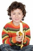 Child Eating A Banana