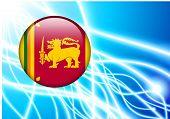 Sri Lanka Flag Button on Abstract Light Background Original Illustration