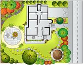 Plan of Landscape and Garden