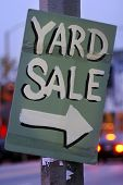 stock photo of yard sale  - Handmade Yard Sale Sign - JPG
