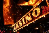 Neon casino sign.