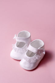 picture of newborn baby girl  - baby slippers for girl - JPG