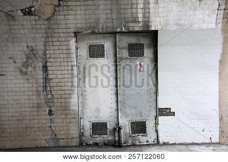 creepy old metal doors doors