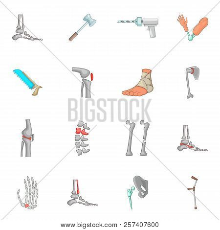 Orthopedic And Spine Icons Set  Cartoon Illustration Of 16 Orthopedic And  Spine Icons For Web poster