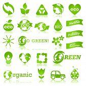 Постер, плакат: Глянцевый экологии икона set