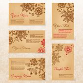 Vintage style business card set