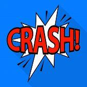 Crash Icon. Pop Art Illustration Of Crash Icon For Web poster