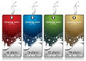 Winter Sales Tags