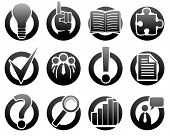 stock photo of mass media  - Media and information icons  - JPG