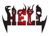 Grafia estilizada da palavra inferno