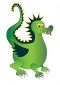 Green magic dragon. Vector illustration
