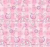 Seamless pattern - baby pink collection