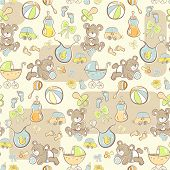 Seamless pattern - Cute baby pattern