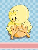 Easter greeting card - Cute chicken