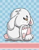 Easter greeting card - Cute bunny