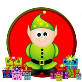 christmas elf vector illustration