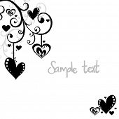 picture of san valentine  - hearts background - JPG