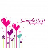 pic of san valentine  - hearts background - JPG