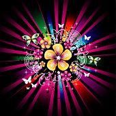background flower illustration