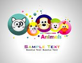 Animals colorful background.