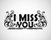 stock photo of miss you  - I miss you background - JPG