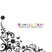 Floral Abstract banner