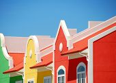 multicolored tropical building fronts