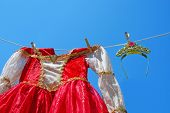 Princess Dress and Tiara on Clothes Line