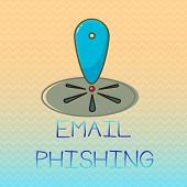 Conceptual Hand Writing Showing Email Phishing. Business Photo Showcasing Emails That May Link To We poster