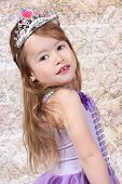picture of toddlers tiaras  - Little girl Dressed as Princess for halloween - JPG