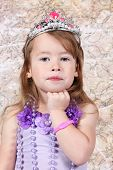 Little Girl Dressed As Princeness