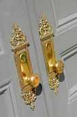 image of door-handle  - beautiful brass entry door handles - JPG