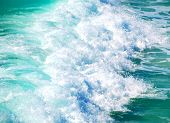 Gorgeous tropical water with powerful wave