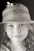 young bee keeper with whimsical hat