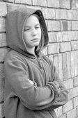girl looking upset wearing jacket