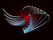 Blue Metallic Twist