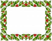Holly Christmas frame 3